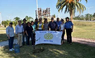 EL MUNICIPIO Y EL ROTARY CLUB CREAN CONCIENCIA SOBRE LA PLANTACIÓN DE ÁRBOLES EN VILLA ÁNGELA