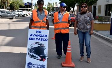 TRÁNSITO REALIZA CONTROLES DE USO DE CASCO Y REFUERZA ANILLO PERIMETRAL EN DISTINTOS SECTORES DE LA CIUDAD