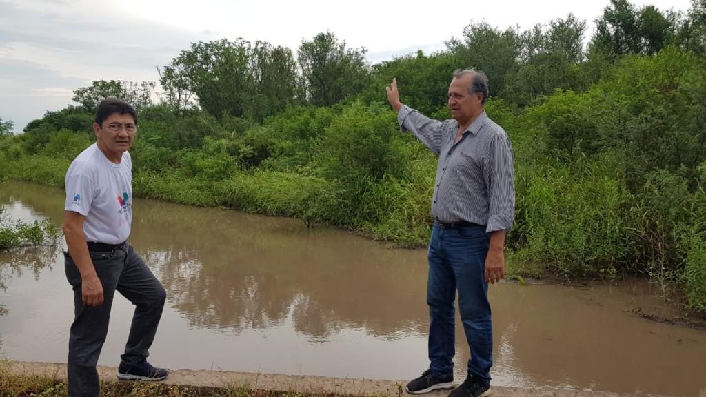 PAPP ASEGURÓ QUE LOS CANALES DE DESAGOTE DE VILLA ÁNGELA TRABAJAN CORRECTAMENTE