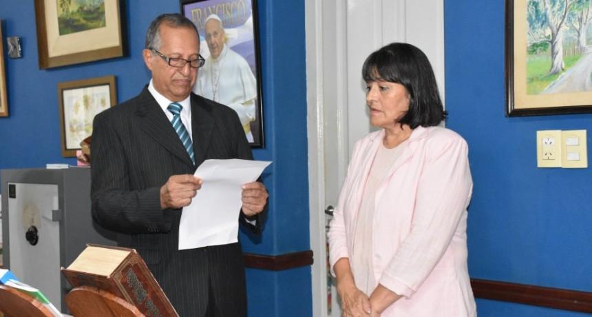 EL INTENDENTE PAPP TOMÓ JURAMENTO A LA SECRETARIA DE CULTURA, TURISMO Y DEPORTES