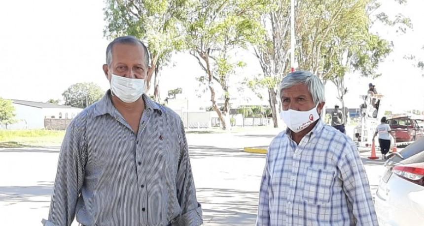 EL INTENDENTE PAPP SUPERVISÓ LA COLOCACIÓN DE 100 LUCES LED EN EL ACCESO NORTE