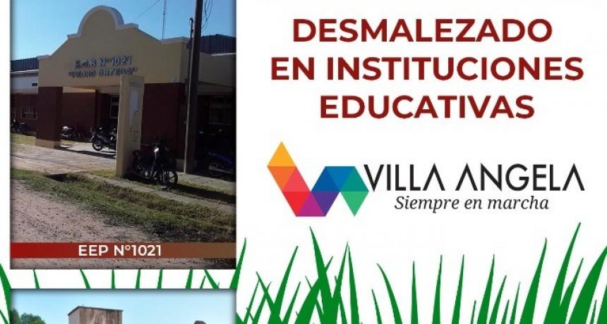 LA MUNICIPALIDAD COLABORA CON EL DESMALEZADO EN INSTITUCIONES EDUCATIVAS Y CONTINÚA CON TRABAJOS PARA EL MEJORAMIENTO DE CALLES