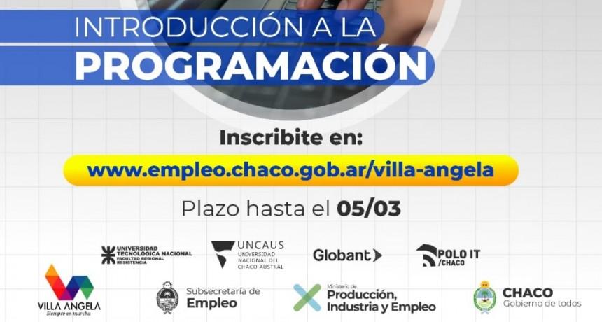 EL MUNICIPIO DE VILLA ÁNGELA INVITA A ESTUDIAR PROGRAMACIÓN DE MANERA GRATUITA Y VIRTUAL