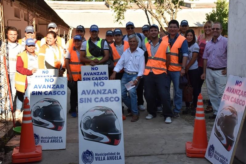 EL DEPARTAMENTO DE TRÁNSITO REFUERZA EL CERCO PERIMETRAL EN VILLA ÁNGELA