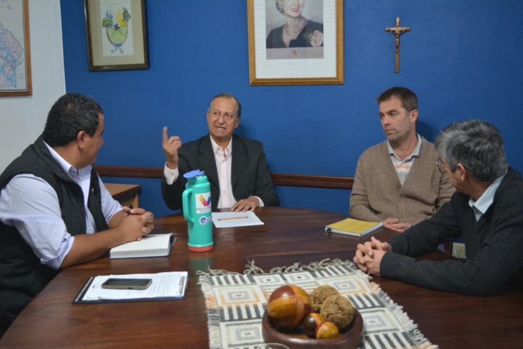 EL INTENDENTE PAPP, JUNTO AL COORDINADOR DE LA AGENCIA DE DESARROLLO LOCAL, SE REUNIÓ CON EL COORDINADOR DE AGRICULTURA FAMILIAR DE NACIÓN