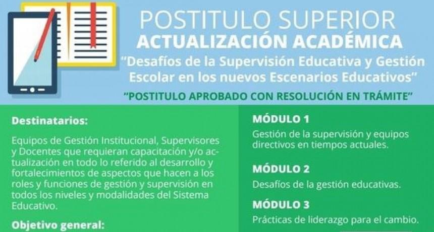 EL MUNICIPIO INFORMÓ QUE SE EXTIENDE LA FECHA DE INSCRIPCIONES AL POSTÍTULO SUPERIOR DE ACTUALIZACIÓN ACADÉMICA