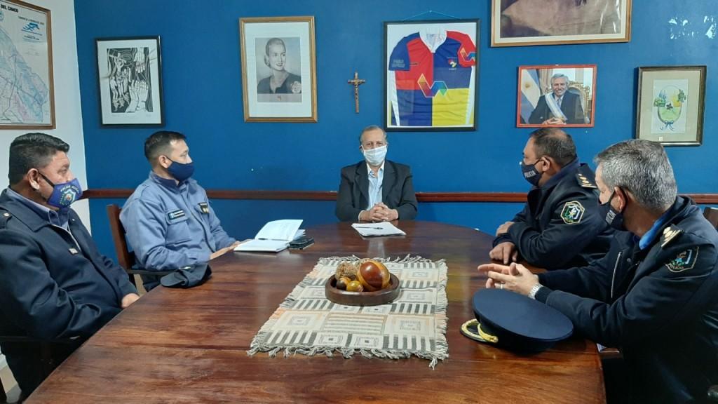 EL INTENDENTE PAPP RECIBIÓ AL DIRECTOR GENERAL DE SEGURIDAD  INTERIOR PARA COORDINAR ACCIONES EN CONJUNTO