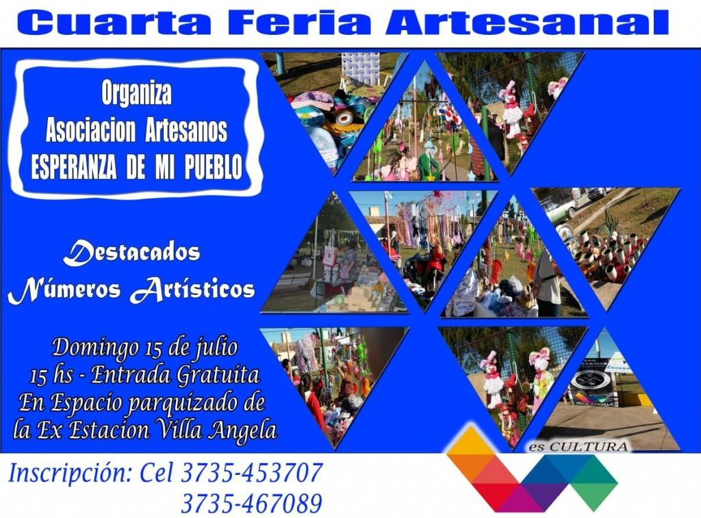 LA ASOCIACIÓN DE ARTESANOS INVITÓ A LA 4 FERIA ARTESANAL A REALIZARSE EL DOMINGO EN EL BARRIO SARGENTO CABRAL