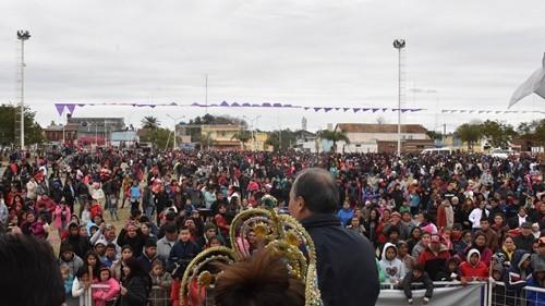 PREDIO CULTURAL COLMADO DE CHICOS EN EL FESTEJO MUNICIPAL POR EL DÍA DEL NIÑO
