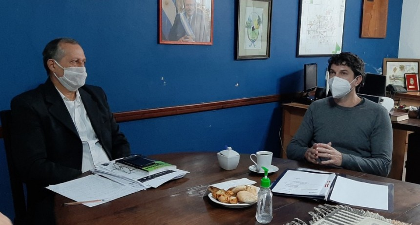 EL INTENDENTE ADALBERTO PAPP RECIBIÓ AL PRESIDENTE DEL INSTITUTO DE VIVIENDAS