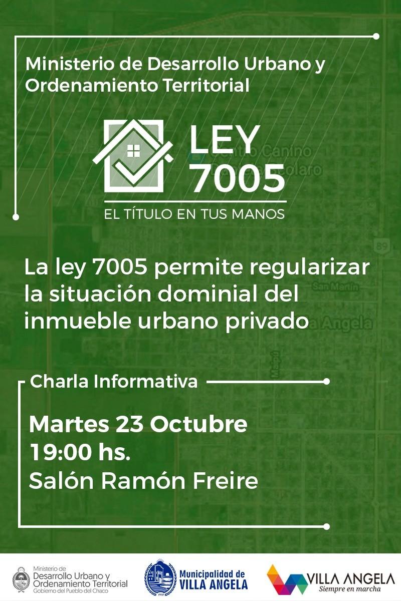 SECRETARÍA DE PLANIFICACIÓN INVITA A CHARLA INFORMATIVA SOBRE LEY 7005