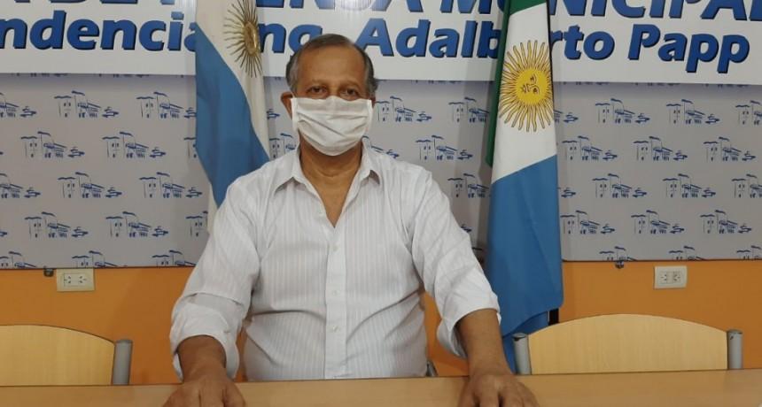 EL INTENDENTE PAPP TRABAJA EN CONJUNTO CON EL GOBERNADOR CAPITANICH PARA BLOQUEAR EL CONTAGIO DE COVID-19