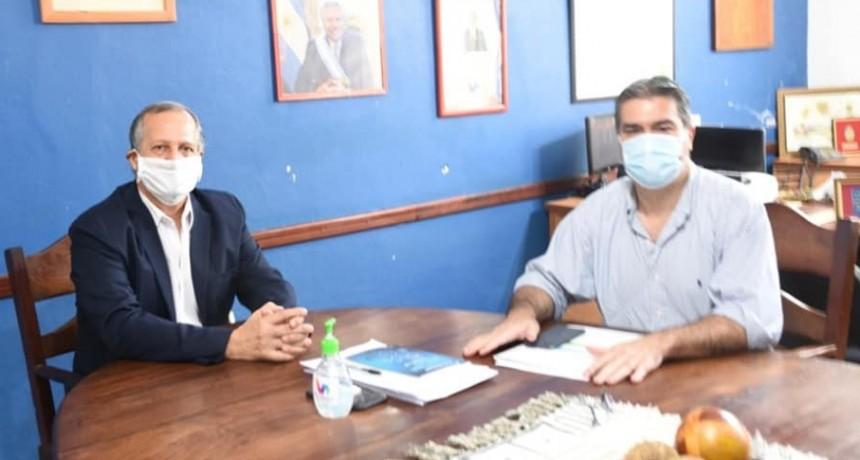 EL INTENDENTE PAPP Y EL GOBERNADOR CAPITANICH SE REUNIERON PARA REFORZAR LOS CONTROLES DE BIOSEGURIDAD