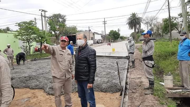 PAPP DESTACÓ EL AVANCE DEL PAVIMENTO EN LA CIUDAD