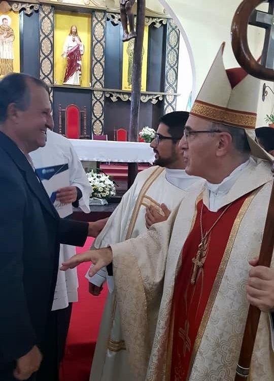 EL INTENDENTE PAPP PARTICIPÓ DE LA ORDENACIÓN DEL DIÁCONO DE LA CIUDAD, FABRICIO JARA