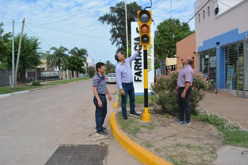 EL MUNICIPIO REALIZÓ LA INSTALACIÓN DE CINCO NUEVOS SEMÁFOROS EN LA CIUDAD