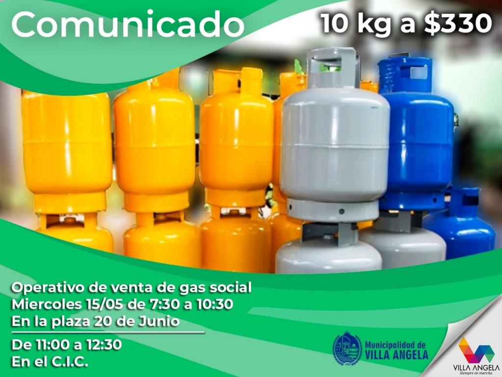 DOBLE OPERATIVO DE GAS SOCIAL EN VILLA ÁNGELA