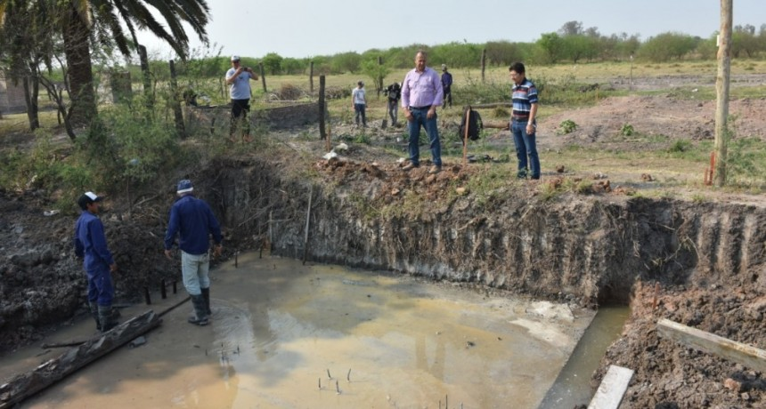 PAPP SUPERVISÓ LA CONSTRUCCIÓN DE UNO DE LOS PUENTES DE AV. EL QUEBRACHO EN EL SARGENTO CABRAL