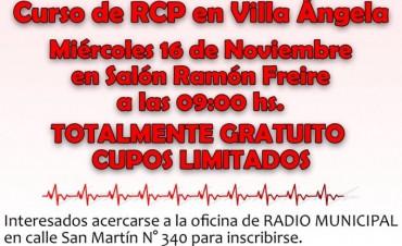 EL MUNICIPIO Y LA UNCAUS BRINDAN CURSO RCP TOTALMENTE GRATUITO EN VILLA ÁNGELA
