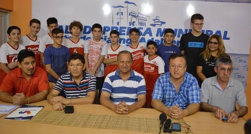 EL MUNICIPIO RECONOCIÓ A JOVENES BASQUETBOLISTAS DEL CLUB UNIÓN PROGRESISTA